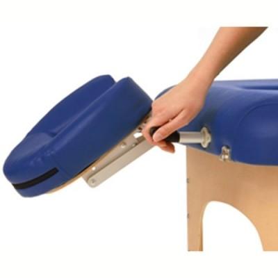 Το μαξιλάρι προσώπου προσαρμόζεται εύκολα στις υποδοχές του κρεβατιού (στάνταρντ εξοπλισμός)