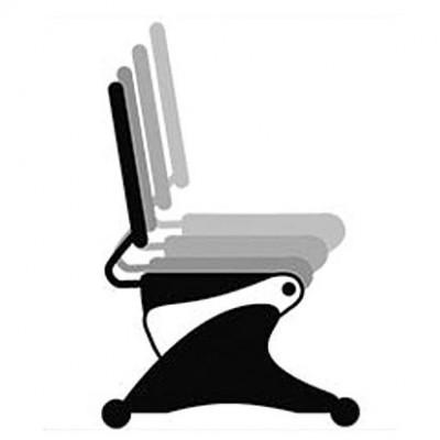 Ρύθμιση ύψους καθίσματος με πύρους που κουμπώνουν στο επιθυμητή θέση