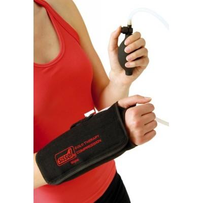 Η συμπίεση ρυθμίζεται από τον χρήστη στο επιθυμητό επίπεδο και συμβάλλει στη γργορότερη ανακούφιση από τα συμπτώματα