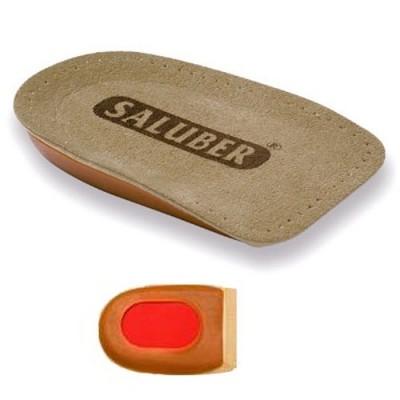 Αντικραδασμικός υποπτέρνιος πάτος Saluber με την ειδική μεμβράνη Poron® για μείωση των καταπονήσεων στην πτέρνα