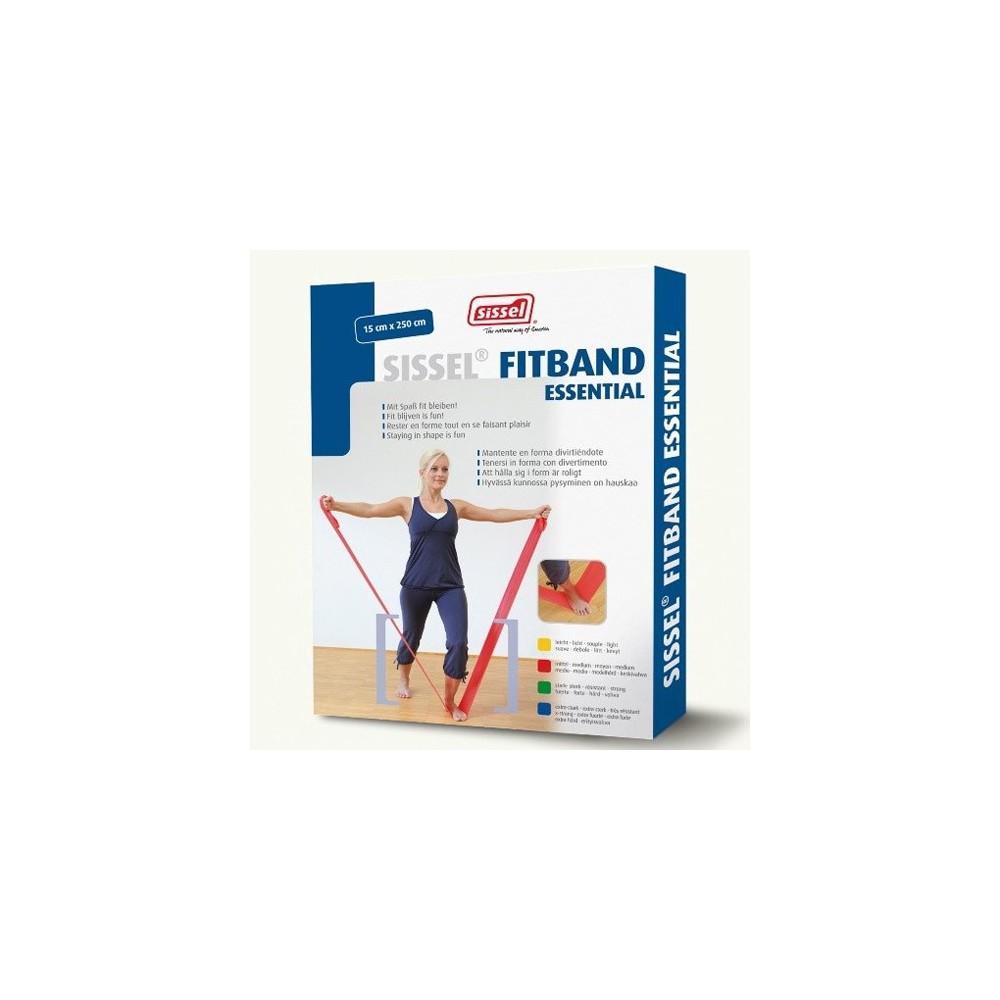 Οι ελαστικοί ιμάντες γυμναστικής Fitband Essential 2,5m x 15cm συνοδεύονται από οδηγό ασκήσεων