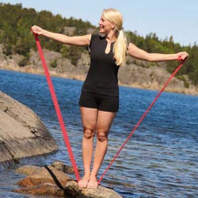 Οι ελαστικοί ιμάντες άσκησης Sissel® Fitband μεταφέρονται εύκολα για να γυμνάζεστε παντού