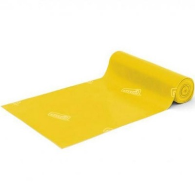 Οι ελαστικοί ιμάντες άσκησης Sissel® Fitband με κίτρινο χρώμα παρέχουν ελαφρά αντίσταση