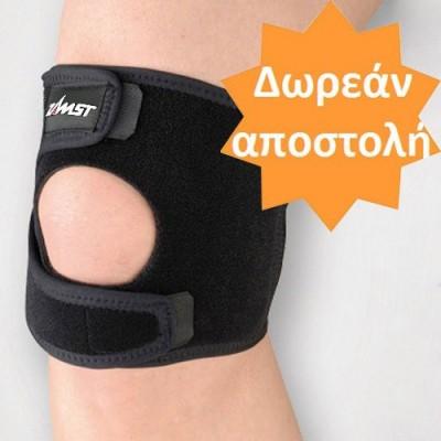 Η επιγονατίδα JK-1 παρέχει υποστήριξη μετρίου βαθμού σε αθλήματα με άλματα για πρόληψη ή αποκατάσταση από τενοντίτιδες