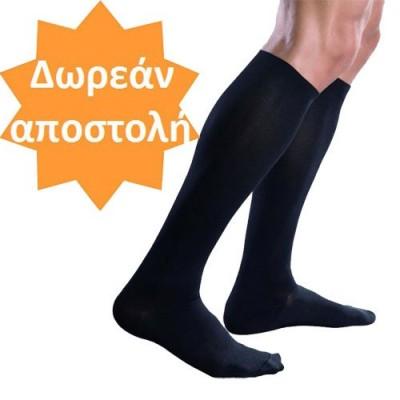 Βαμβακερές κάλτσες διαβαθμισμένης συμπίεσης 18 mmHg για πρόληψη φλεβίτιδας