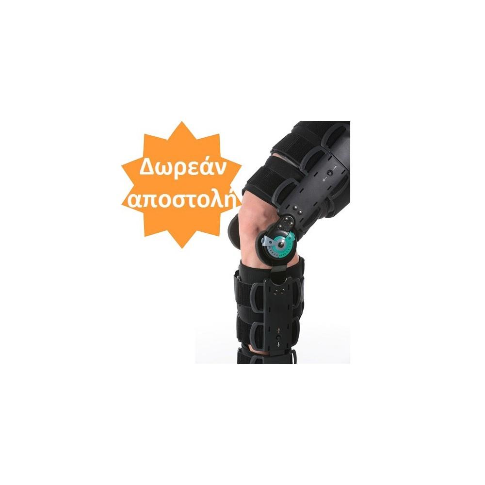 Τηλεσκοπικός μηροκνημικός λειτουργικός νάρθηκας γόνατος με γωνιόμετρο Telescopic cool