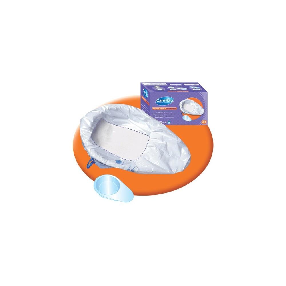 Οι απορροφητικές σακούλες υγιεινής CareBag® για σκωραμίδες στερεοποιούν τα ούρα και τα απεκκρίμματα