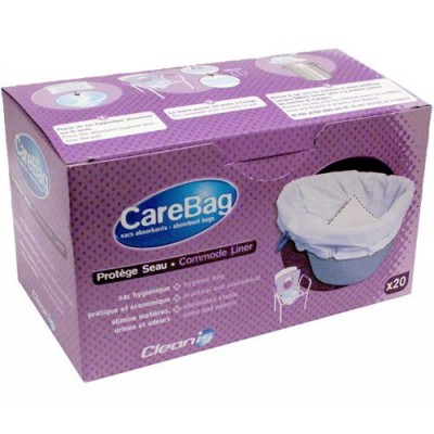 Οι απορροφητικές σακούλες Carebag® για δοχείο WC στερεοποιούν τα ούρα και προστατε'υουν από τους παθογόνους οργανισμούς