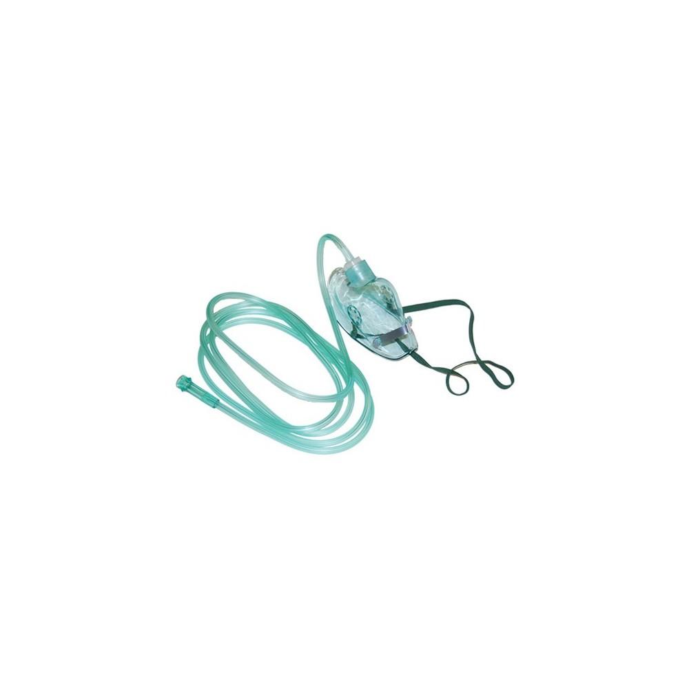 Η μάσκα οξυγονοθεραπείας διαθέτει σωλήνα 2 μέτρων