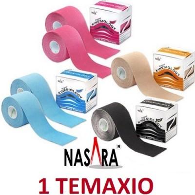 Το Kinesio tape Original Nasara® 5cm x 5m διατίθεται σε διάφορα χρώματα