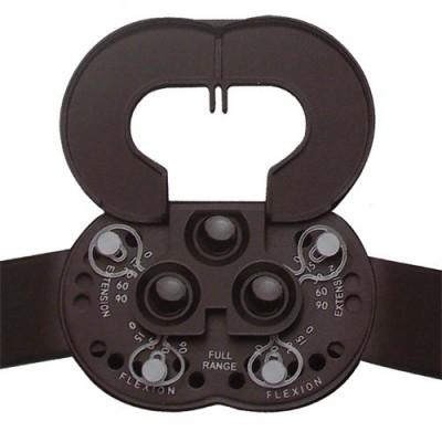 Ο μηροκνημικός λειτουργικός νάρθηκας γόνατος διαθέτει πολυκεντρικό ρυθμιζόμενο μηχανισμό σε διάφορες γωνίες (γωνιόμετρο)