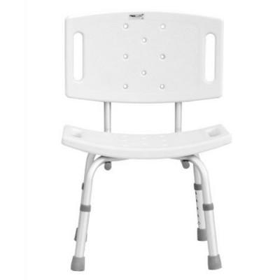 Κάθισμα μπάνιου με πλάτη - Καρέκλα μπάνιου
