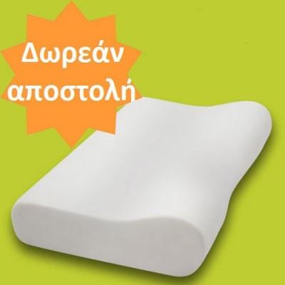 Το ανατομικό μαξιλάρι Optimum είναι κατασκευασμένο από ελαστική βισκόζη κι έχει ειδικό ανατομικό σχεδιασμό με υποδοχή του αυχένα