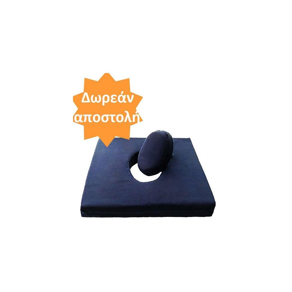 Μαξιλάρι καθίσματος Visco Memory με οπή