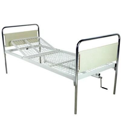 Κρεβάτι  νοσοκομείου μονόσπαστα με χειροκίνητη ανάκλιση πλάτης με μανιβέλα