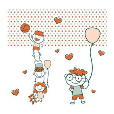 Παιδιατρικό πλαστικοποιημένο ρολό χαρτί υψηλής ποιότητας με τυπωμένες παιδικές παραστάσεις