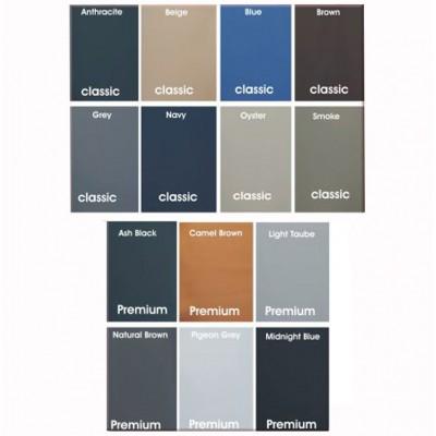 Διατίθεται σε 8 χρώματα clasique και προαιρετικά σε 6 χρώματα Premium