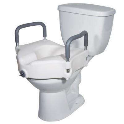 Το ανυψωτικό λεκάνης τουαλέτας με χειρολαβές σταθεροποιείται σε όλες τις κλασσικές λεκάνες