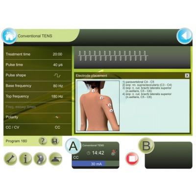 Η Combi 400 διαθέτει λεπτομερείς πληροφορίες για την τοποθέτηση των ηλεκτροδίων με τρισδιάστατες εικόνες