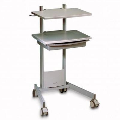 Η συσκευή Combi 400 μπορεί να τοποθετηθεί στο ειδικά διαμορφωμένο τροχήλατο τραπέζι της Gymna