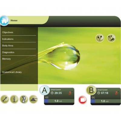 Η συσκευή ηλεκτροθεραπείας με αναρρόφηση Duo 400V διαθέτει μεγάλη οθόνη αφής 10.4 ιντσών
