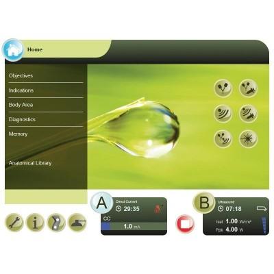 Ο χειρισμός της συσκευής γίνεται μέσα από τη μεγάλη οθόνη αφής 10.4 ιντσών, με λογισμικό που καθοδηγεί το φυσικοθεραπευτή