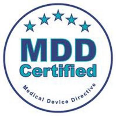 Η ηλεκτροθεραπεία Gymna Duo 400 πληροί τις αυστηρές προδιαγραφές της Ευρωπαϊκής οδηγίας περί ιατρικών συσκευών MDD93/42/EEC