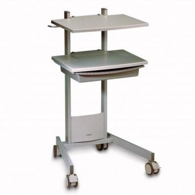 Η ηλεκτροθεραπεία Duo 200 μπορεί να τοποθετηθεί στο ειδικά διαμορφωμένο τροχήλατο τραπέζι της Gymna (προαιρετικός εξοπλισμός)