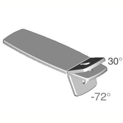 Το άνω τμήμα έχει ρυθμιζόμενη κλίση με υδροπνευματικό μηχανισμό από -72° έως 30°