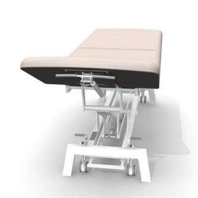 Η ανάκλιση του άνω και του κάτω τμήματος γίνεται με υδροπνευματικούς μηχανισμούς μέσω εργονομικά τοποθετημένων μοχλών