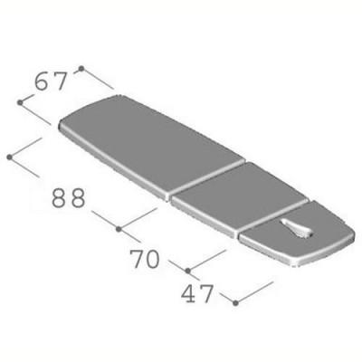 Το κρεβάτι φυσικοθεραπείας  G2 Trio έχει μεγαλύτερο κάτω τμήμα για καλύτερη στήριξη σε ξαπλωτή θέση