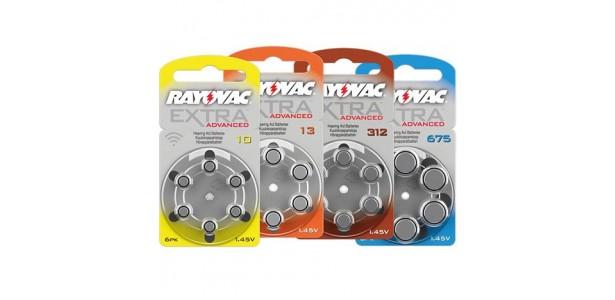 Μπαταρίες ακουστικών βαρηκοΐας Rayovac. Τιμές από 3,99 € η εξάδα
